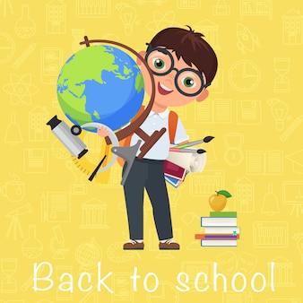 かわいい生徒学校に戻る漫画のキャラクター