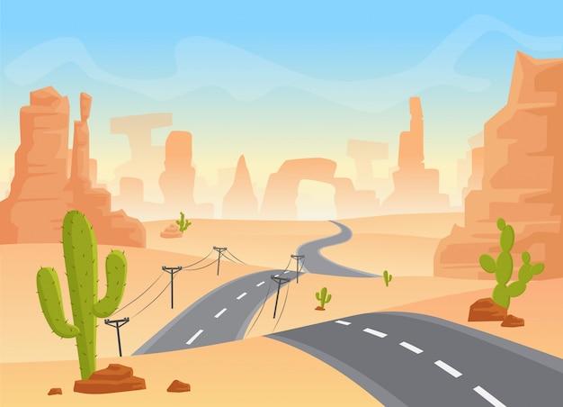 テキサス砂漠の風景