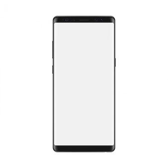 空白の画面を持つスマートフォン。孤立した