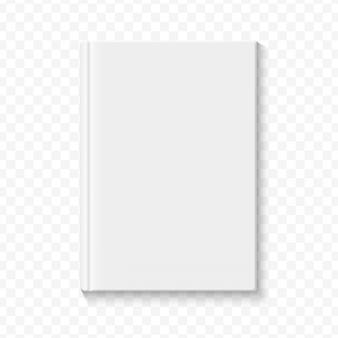 Чистая белая пустая обложка