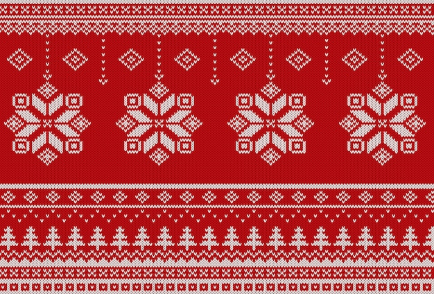 スカンジナビアクリスマスニットパターン