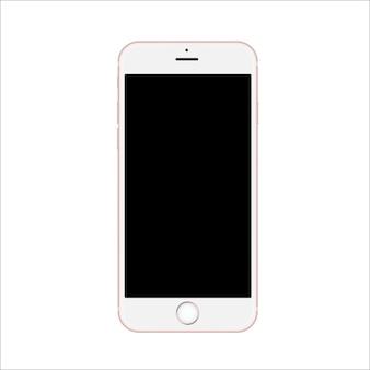 黒い画面を持つスマートフォン