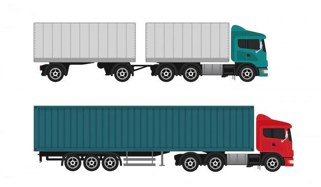配達出荷貨物トラック