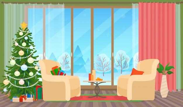 クリスマスのリビングルーム