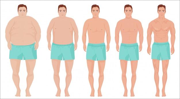 ステージ進捗状況を痩身の男性