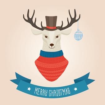 Рождественская лесная голова оленя