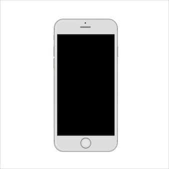 白いスリムなスマートフォン