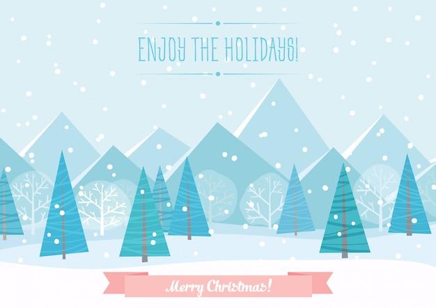 美しいクリスマスの冬の風景