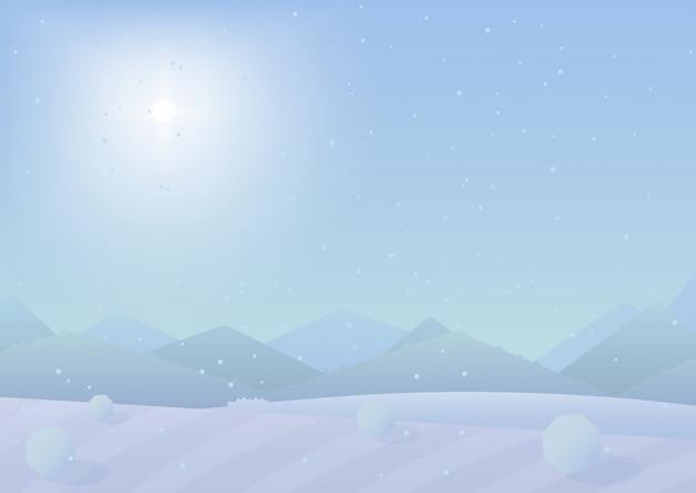 Зимний пейзаж гор