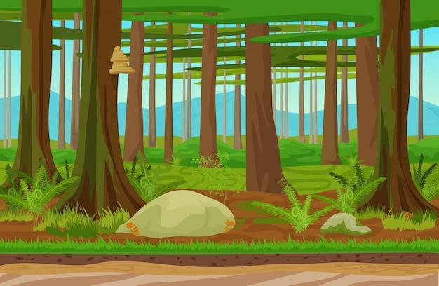 Лесной лесной пейзаж