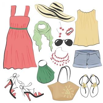 ファッションカジュアル女性夏服