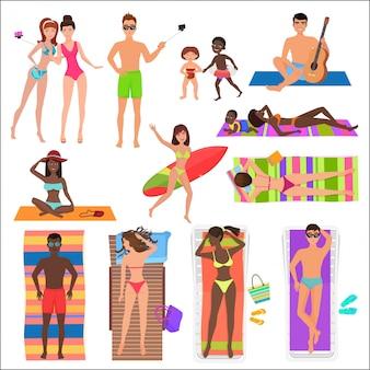 Летний активный спорт пляжные люди