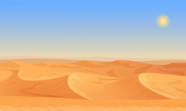 空の砂漠の砂漠の風景