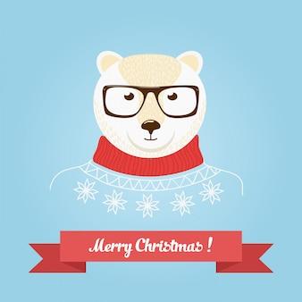Рождественский медведь голова логотип