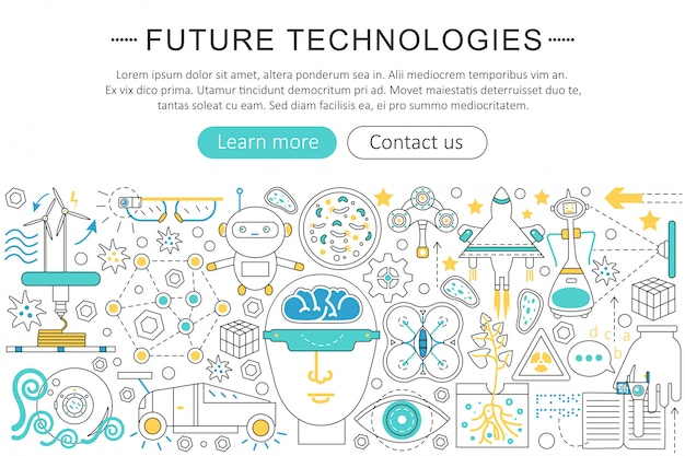 将来の技術フラットラインコンセプト
