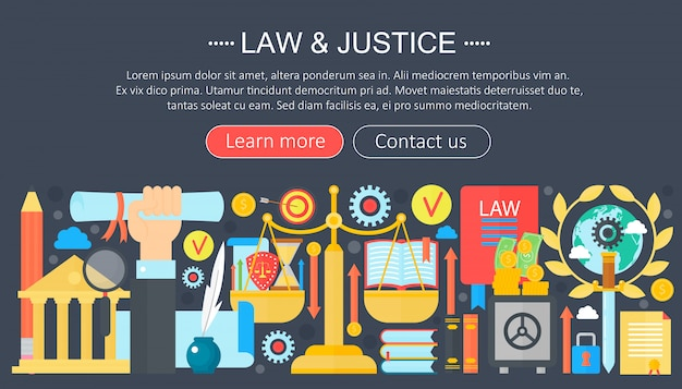 Закон и справедливость инфографика дизайн шаблона