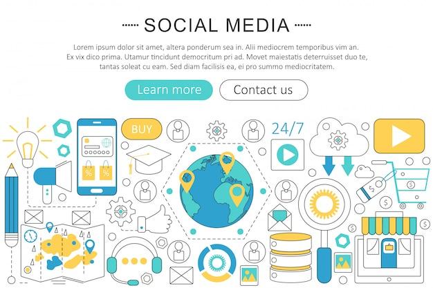 Дизайн шаблона инфографики в социальных сетях