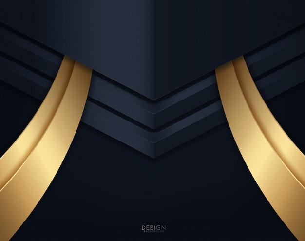 黒い紙カットの背景。抽象的な現実的なペーパーカットの装飾