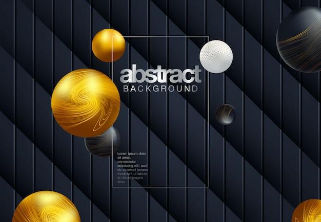 抽象的なライン黒背景