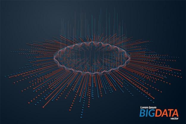 Визуализация больших данных. футуристическая инфографика