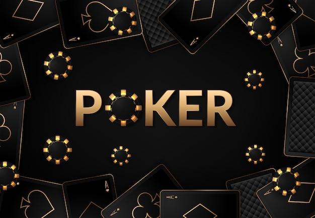 Игральные карты и покерные фишки казино