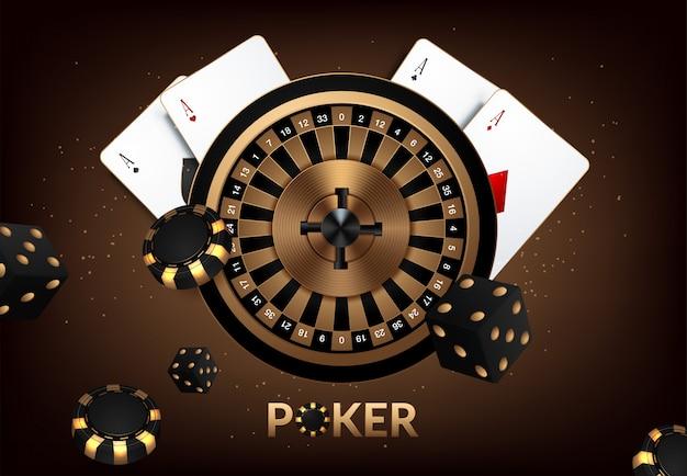 Баннер, фон для рекламы игр в казино