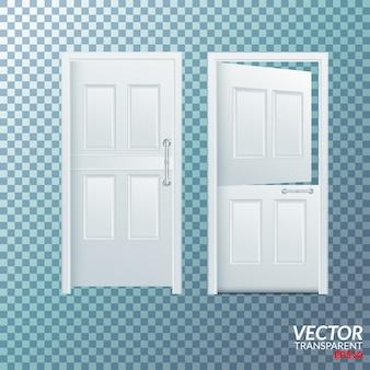 プラスチック製のドアの開閉