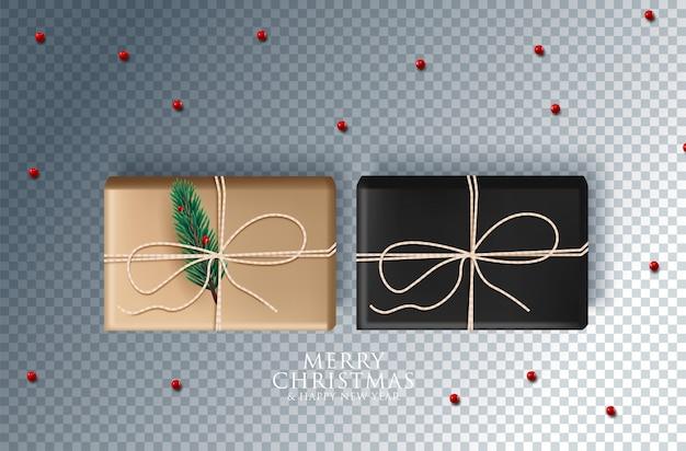 お祝いオブジェクトとクリスマスの装飾。透明に分離