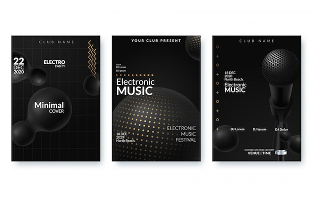 Фестиваль электронной музыки рекламный плакат.