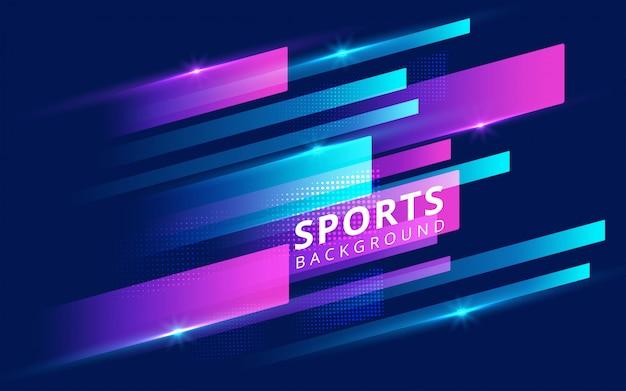 スポーツのモダンな色のポスター。