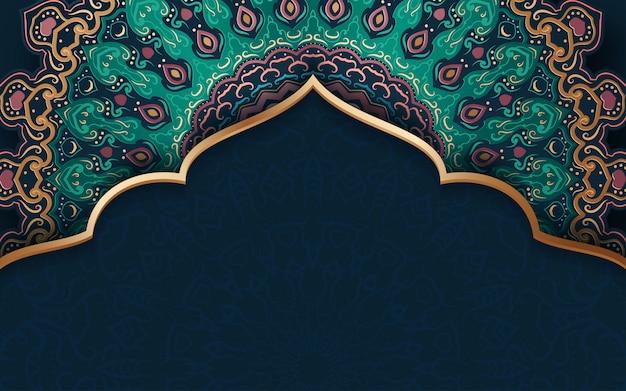 伝統的な飾りと抽象的な背景