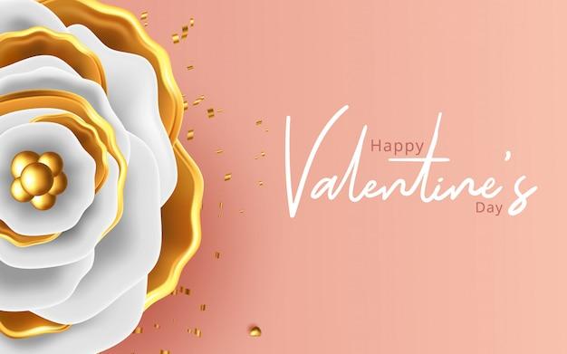 С днем святого валентина романтика открытка с розами