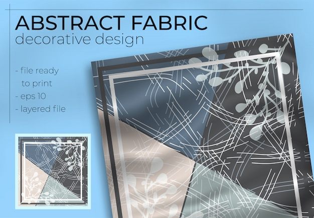 Абстрактная ткань декоративная реалистичная