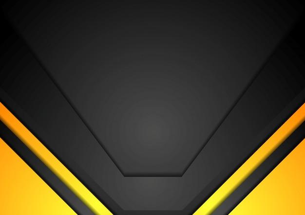 黄色と黒のコーポレートアートの背景