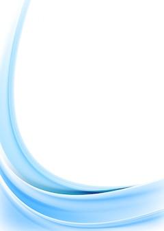 明るいブルーの波状の背景