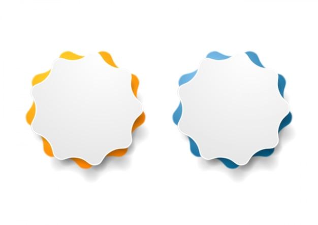 抽象的な波状ステッカーデザイン