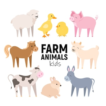 かわいい農場の動物