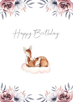 お誕生日おめでとうかわいい赤ちゃんギフトカード