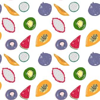 熱帯のベクトルフルーツパターン