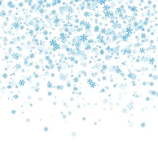 白の立ち下がり雪