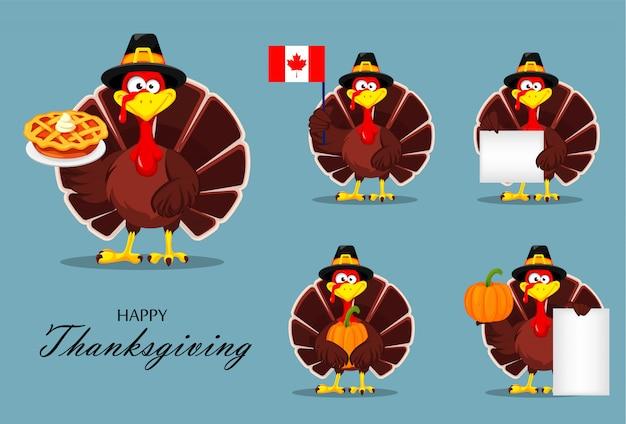 感謝祭の七面鳥。幸せな感謝祭