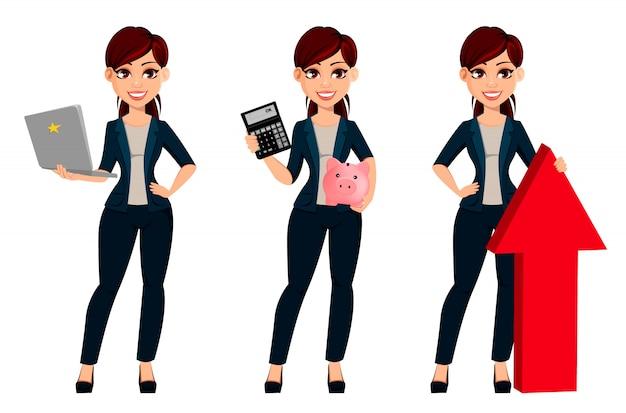 若い美しいビジネス女性