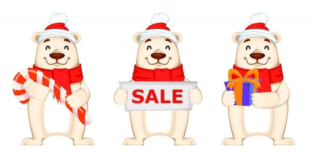 Рождественская распродажа с белым медведем
