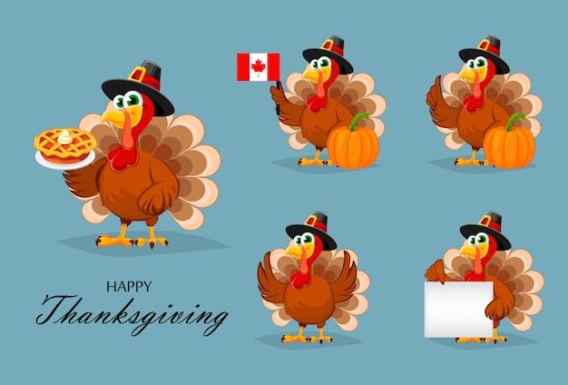 幸せな感謝祭。感謝祭の七面鳥