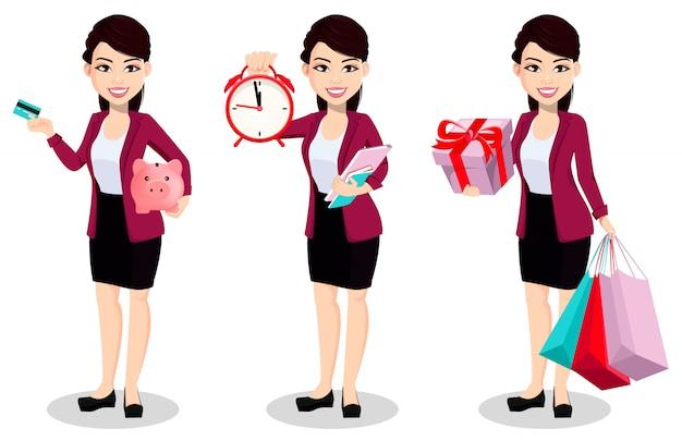 Азиатская бизнес-леди в офисной одежде