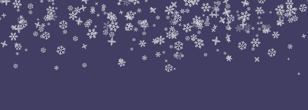 Снежинки падают с неба