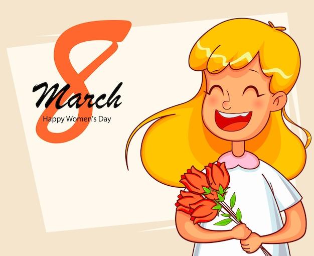 ハッピー国際女性の日グリーティングカード
