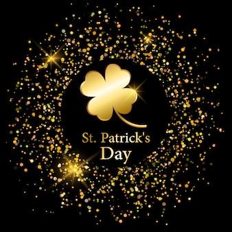 聖パトリックの日の黄金のクローバー