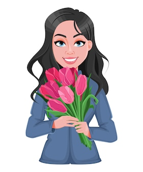 Счастливого женского дня. красивая женщина