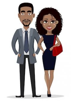 Афро-американский деловой человек и деловая женщина